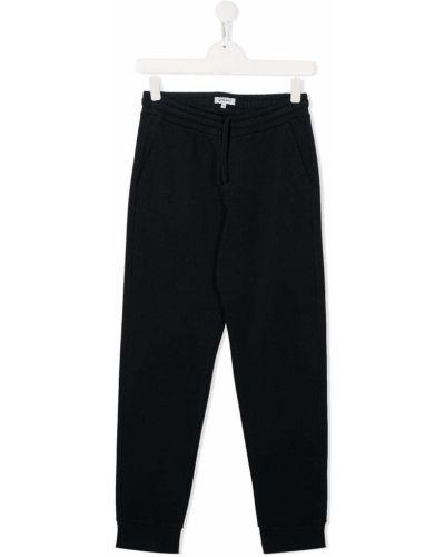 Брючные синие брюки с заплатками с карманами Woolrich Kids