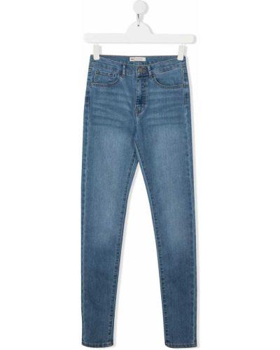 Хлопковые синие джинсы на молнии Levi`s Kids