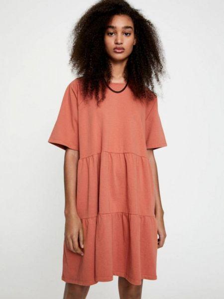 Платье коралловый осеннее Pull&bear