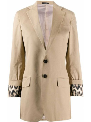 Хлопковый пиджак на пуговицах с лацканами R13
