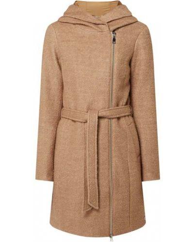 Płaszcz wiązany z wiązaniami - brązowy S.oliver Red Label