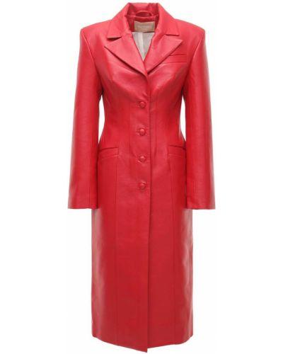 Кожаное пальто с карманами Matériel