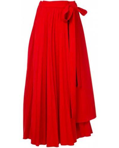 Плиссированная юбка макси с поясом Dalood
