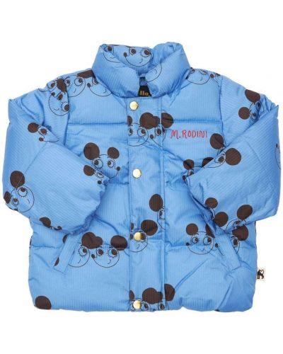 Дутая куртка - синяя Mini Rodini