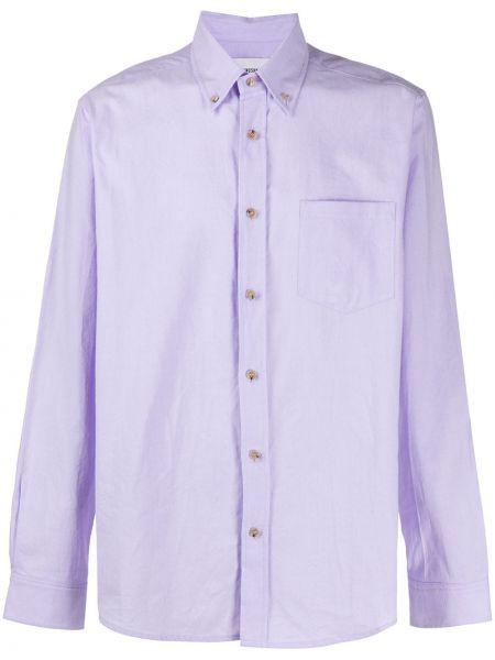 Koszula z długim rękawem fioletowy karmazynowy Nanushka