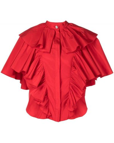 Блузка с короткими рукавами - красная Giambattista Valli