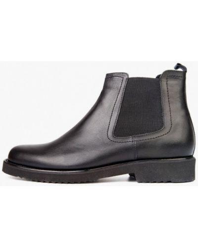 Кожаные ботинки челси - черные Mida