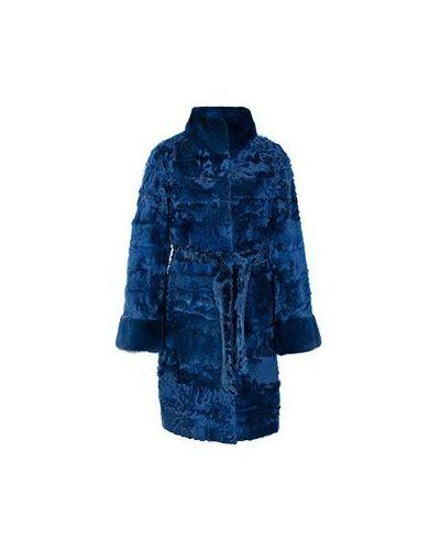 Синее пальто из каракульчи American Legend