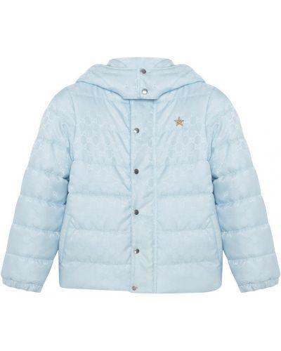 Куртка с капюшоном утепленная джинсовая Gucci Kids