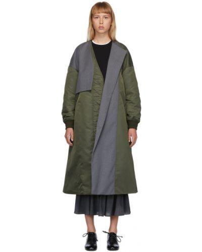 Długi płaszcz asymetryczny z kieszeniami Enfold