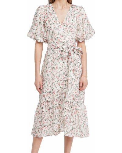 Платье миди с поясом в цветочный принт с декольте Minkpink