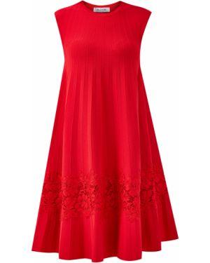 Платье плиссированное трапеция Valentino