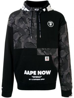 Bluza dresowa - czarna Aape By A Bathing Ape