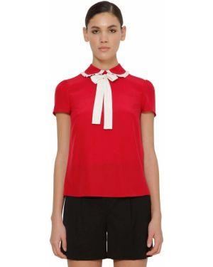 Рубашка с коротким рукавом с завязками на молнии Red Valentino