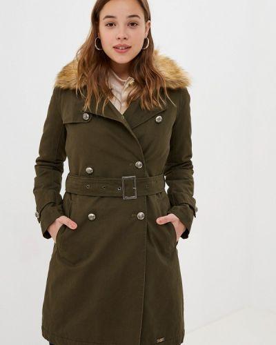 Пальто демисезонное зеленое Gaudi