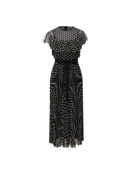 Платье мини с цветочным принтом с поясом Redvalentino