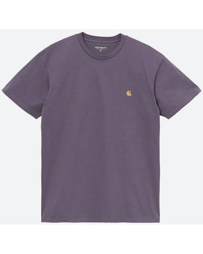 Малиновая футболка Carhartt Wip