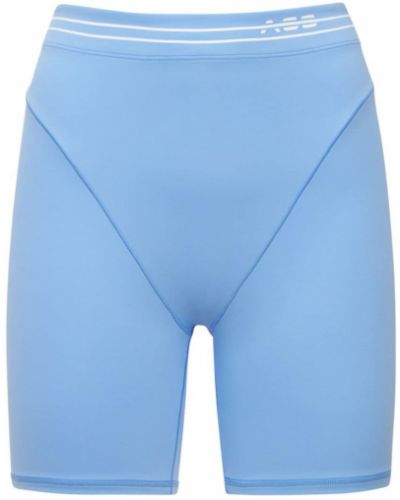 Niebieskie szorty z wysokim stanem Adam Selman Sport