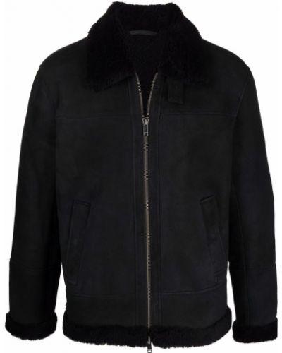 Черная куртка с воротником Dondup
