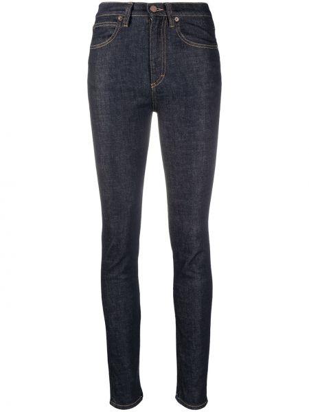 Облегающие синие джинсы-скинни на молнии Victoria, Victoria Beckham