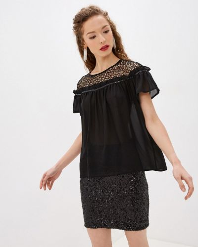 Блузка с коротким рукавом черная Soky & Soka