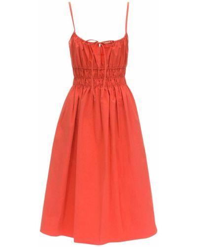 Czerwona sukienka midi bawełniana Ciao Lucia
