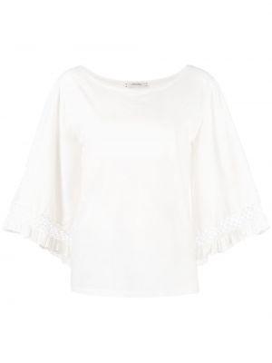 Biały t-shirt bawełniany na co dzień Dorothee Schumacher