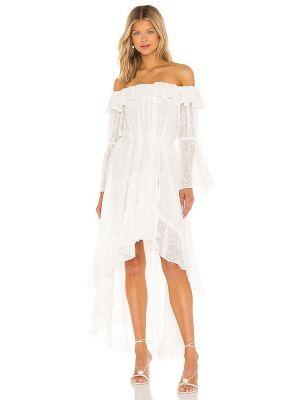 Платье в горошек - белое Misa Los Angeles