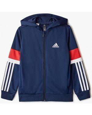 Свитшот синий Adidas