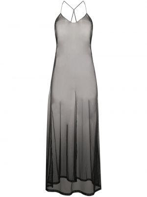 Черное платье с вырезом Maison Close