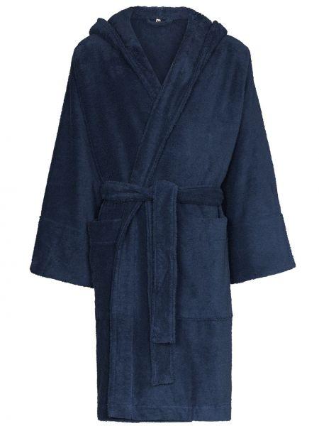 Niebieski szlafrok bawełniany Tekla Fabrics