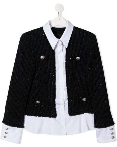 Шерстяной белый классический длинный пиджак Balmain Kids