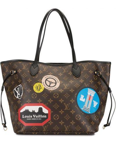 Ze sznurkiem do ściągania brązowy skórzany torba toaletowa prążkowany Louis Vuitton