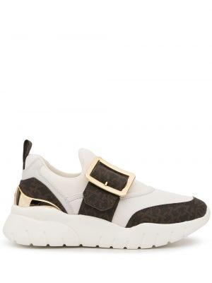 Белые кожаные кроссовки Bally