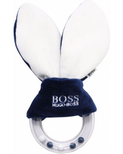 Niebieski pierścień z haftem Hugo Boss