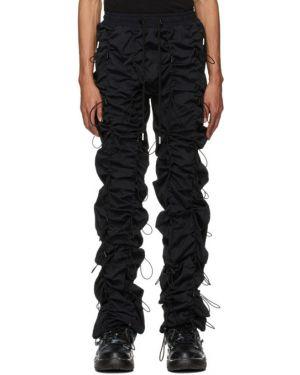 Черные брюки с завязками с манжетами 99% Is