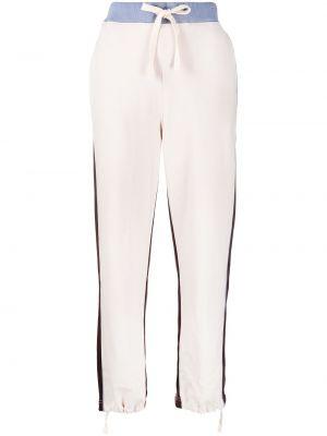 Хлопковые белые спортивные брюки эластичные Sofie D'hoore