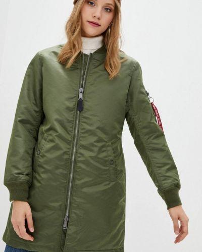 Зеленая теплая куртка Alpha Industries