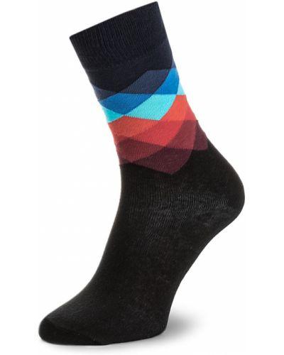 Wysoki skarpety wełniany czarny Happy Socks