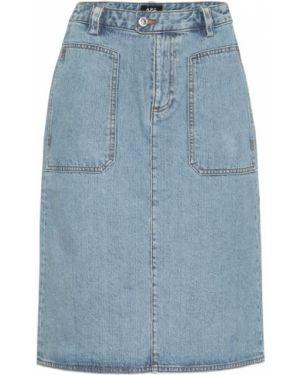 Юбка миди джинсовая синяя A.p.c.