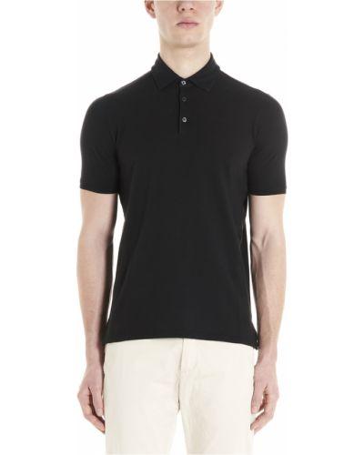 Czarna koszulka Zanone