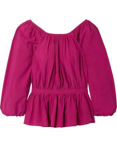 Текстильная розовая блузка Mara Hoffman