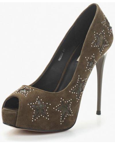 Туфли на каблуке замшевые Vitacci