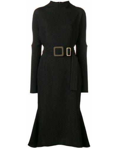 Черное платье миди Edeline Lee