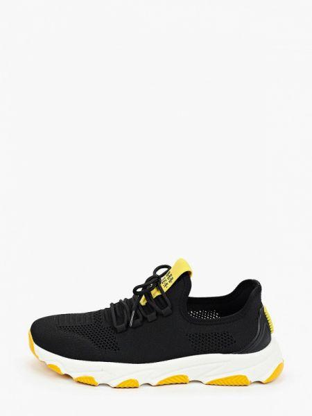 Текстильные черные кроссовки Berten