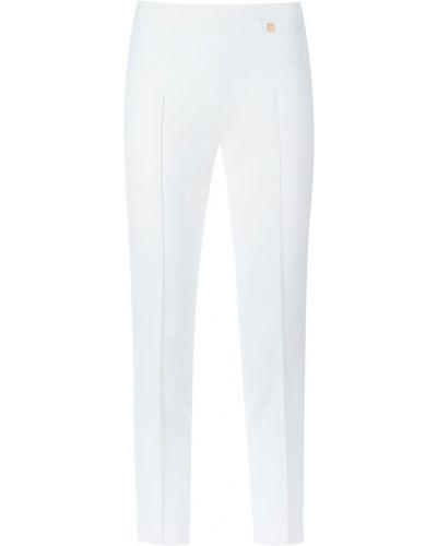 Зауженные укороченные брюки стрейч золотые Versace Collection