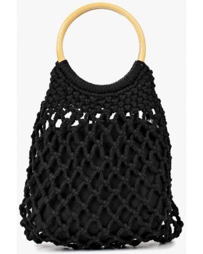 Черная пляжная сумка Topshop