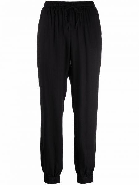 Зауженные черные брюки с карманами из вискозы Gold Hawk