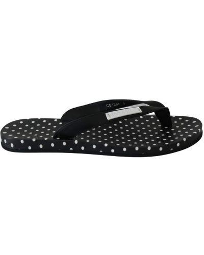 Czarne sandały skorzane Dolce And Gabbana