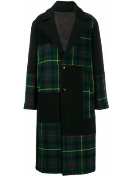 Czarny płaszcz wełniany z długimi rękawami Buscemi